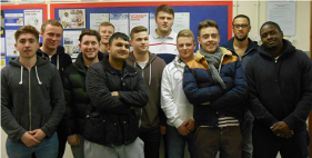 Students that completed NVQ level 3 in February 2014