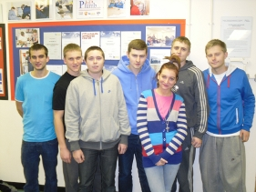 Students that completed NVQ level 3 in April 2010