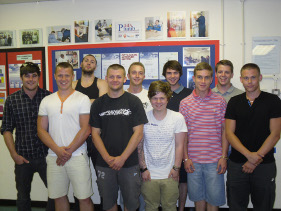Students that completed NVQ level 3 in July 2010